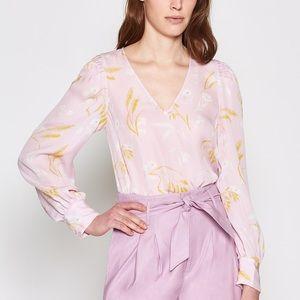 Joie Long Sleeve Yadra Blouse Lavender Rose XL